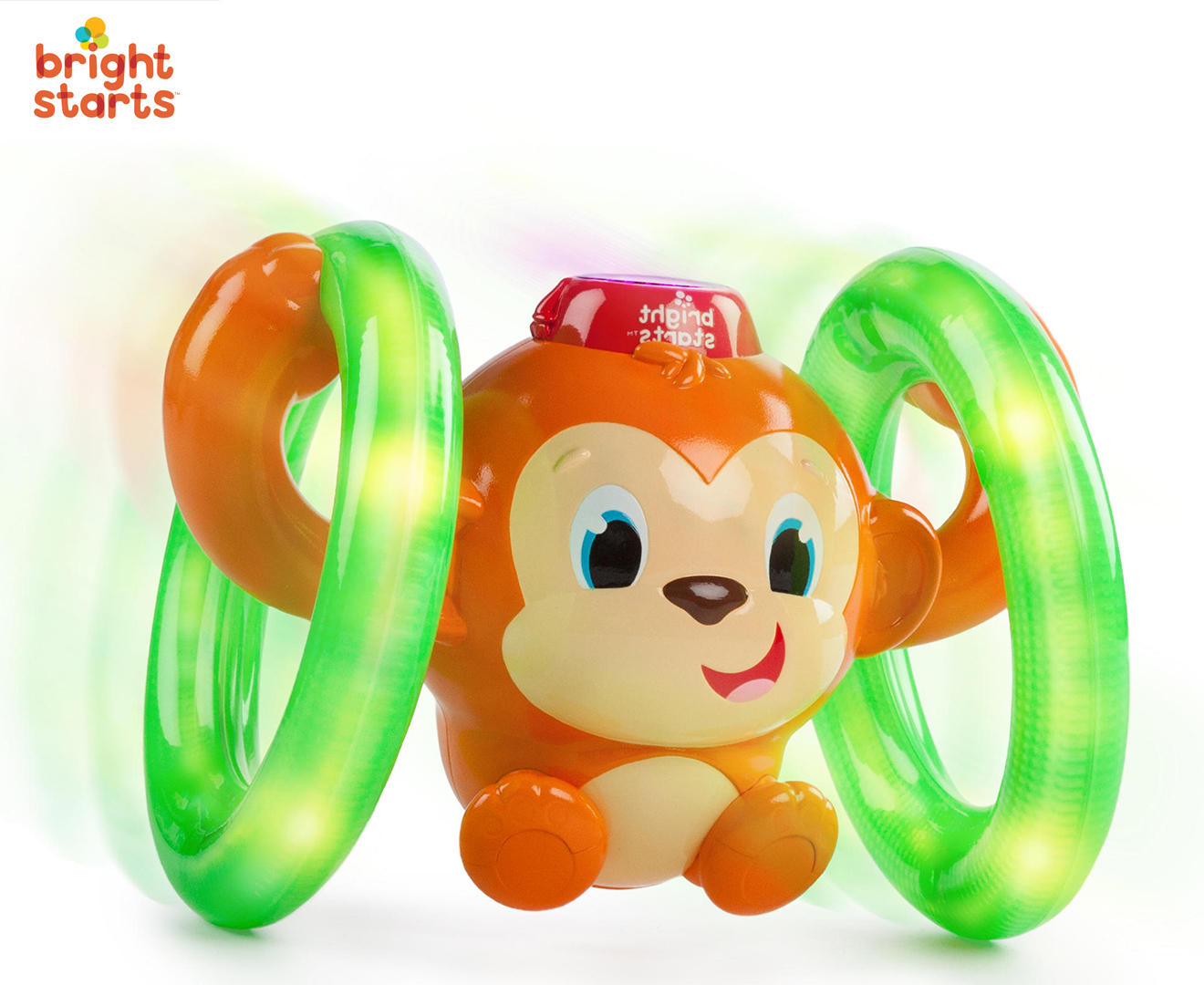 Bright Starts Roll Amp Glow Monkey Baby Infant Activity Toy