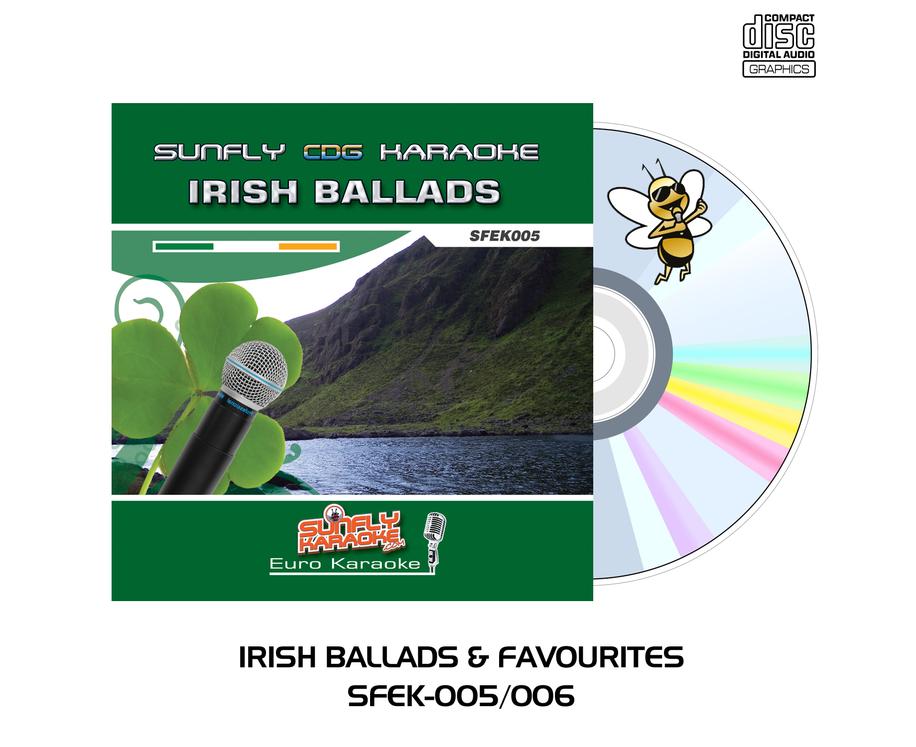 Irish Ballads & Favourites - 2 Disc Set - Sunfly Karaoke - CD+G