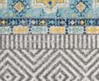 Rug Culture 200cm Oasis 455 Power Loomed Round Rug - Blue 2