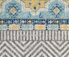 Rug Culture 200cm Oasis 455 Power Loomed Round Rug - Blue 5