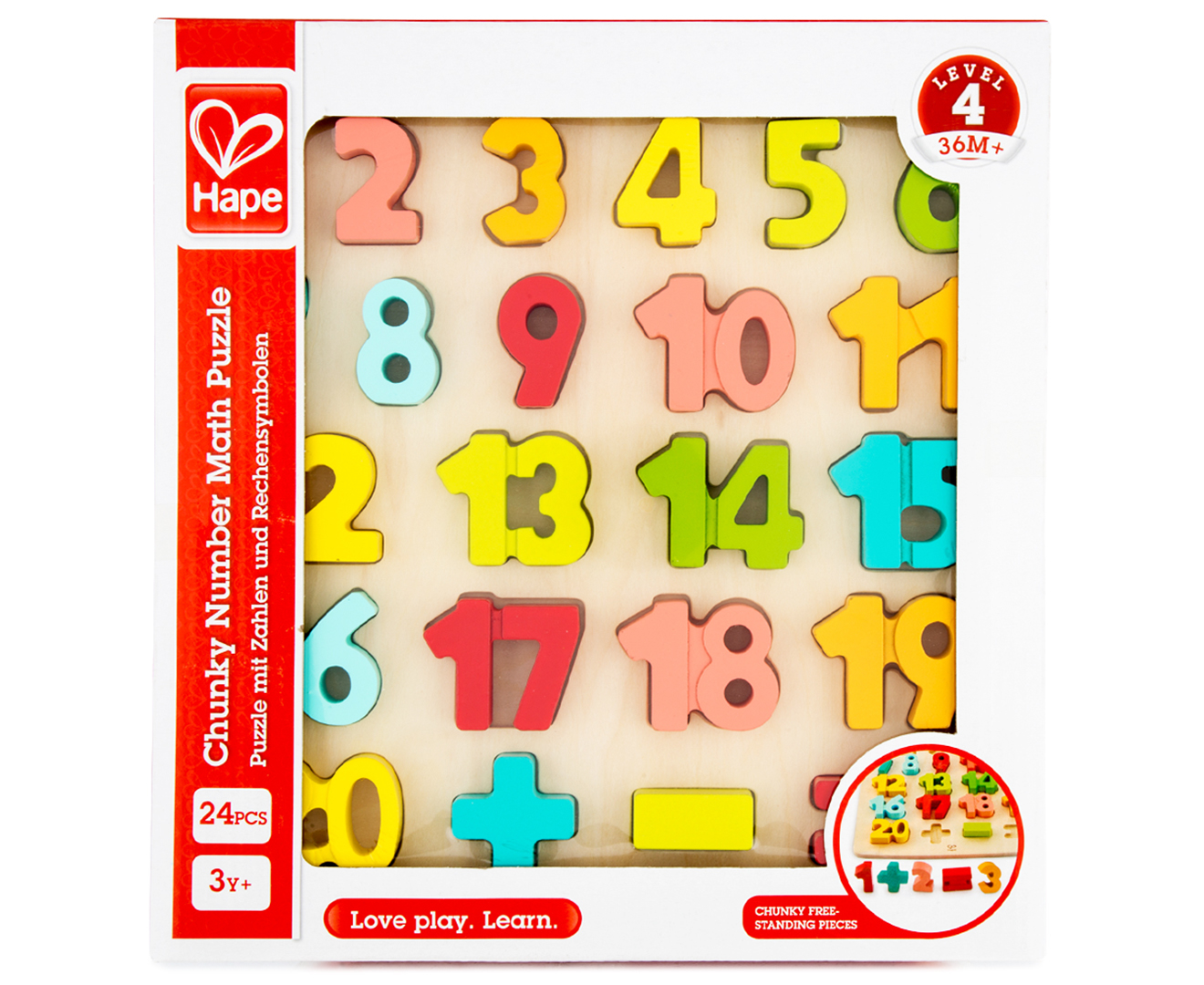 Hape Chunky Number Maths Puzzle Multi Catch Com Au