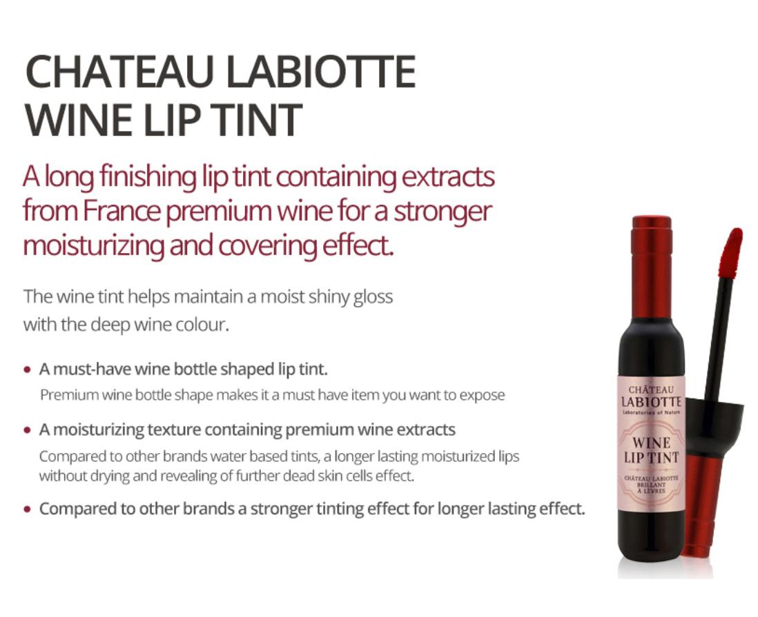 Labiotte Chateau Wine Lip Tint Pk02 7g Stain Chateu Liptint