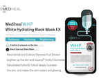 10 x Mediheal W.H.P White Hydrating Black Mask Ex 2