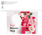 5 x Jayjun Rose Blossom Water Mask - Brightening Smoothing Hydrating 1