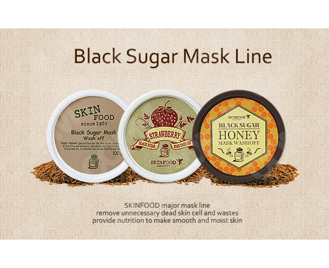 Skinfood Black Sugar Wash Off Mask Upgraded Power Scrub 100g Skin Food Strawberry Exfoliating Pack
