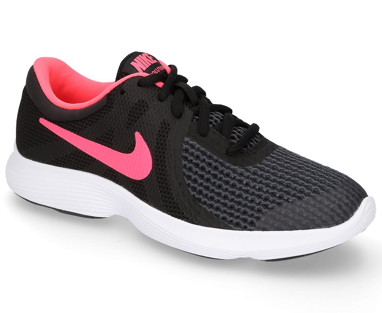 aa2f1e75f1e45 Nike Girls  Grade School Revolution 4 Shoe - Black Racer Pink-White ...