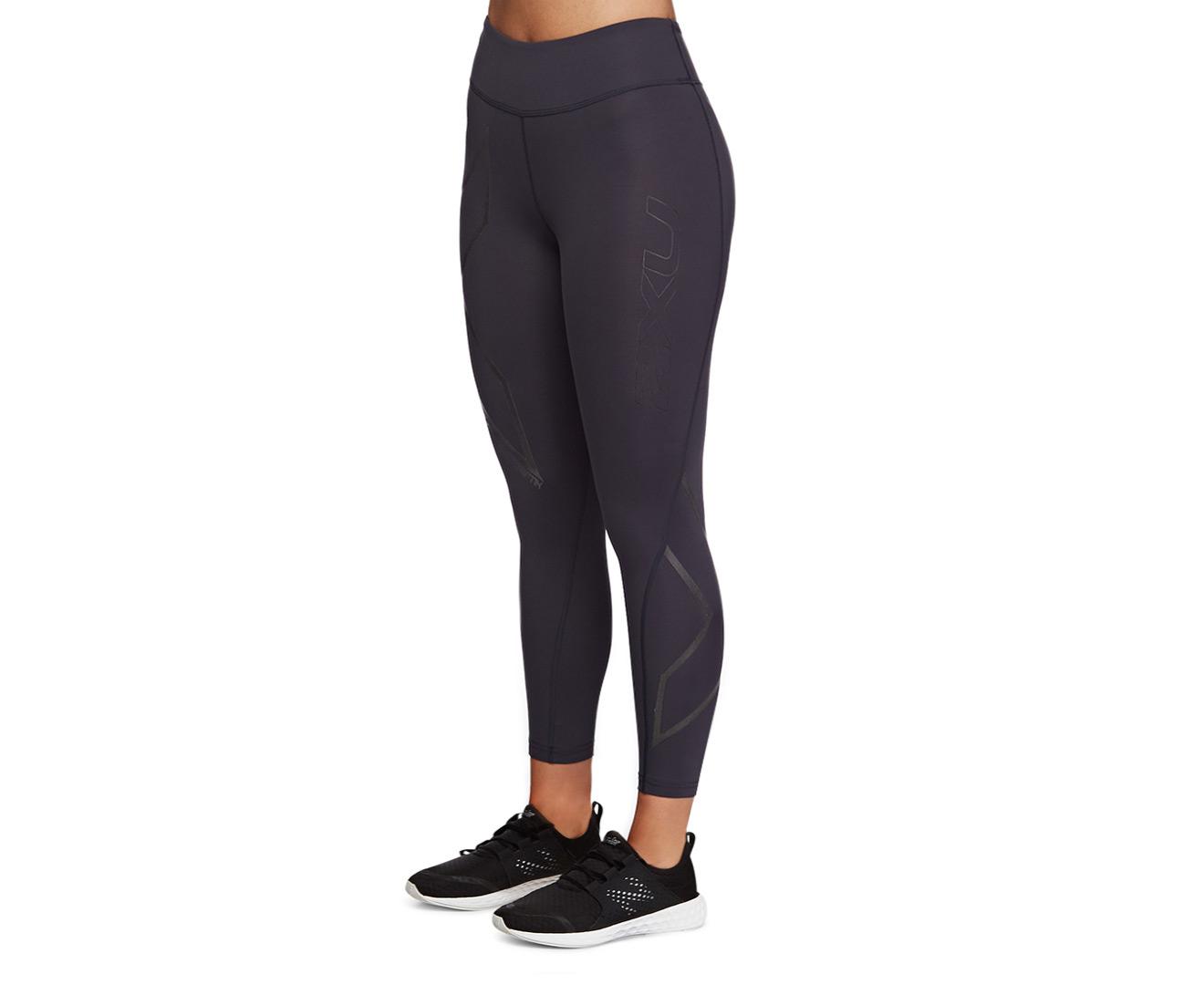 6526cce2d0 2XU Women's Hyoptik Mid-Rise Compression 7/8 Tights - Steel/Black  Reflective | Catch.com.au