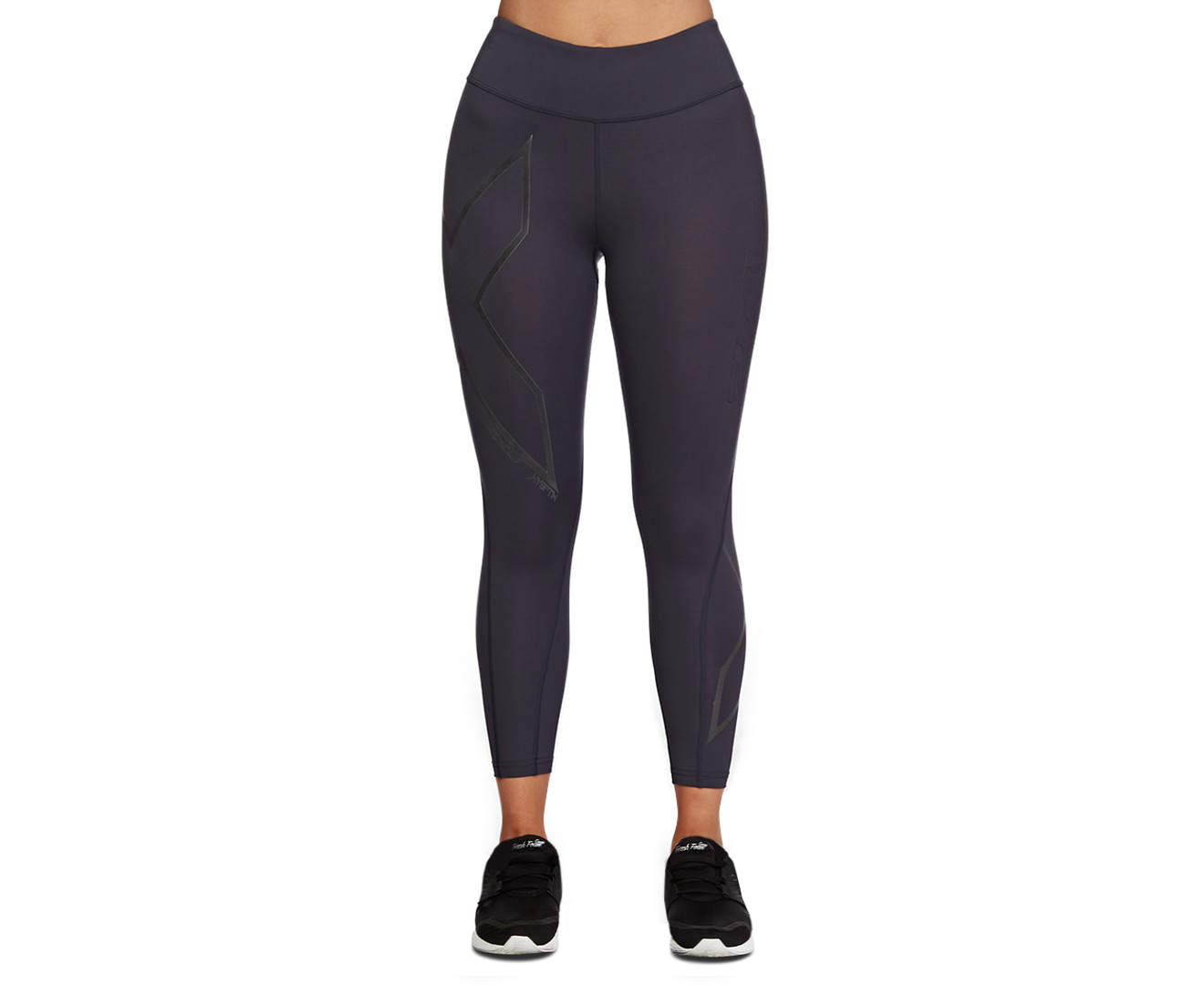 6028aabacf 2XU Women's Hyoptik Mid-Rise Compression 7/8 Tights - Steel/Black  Reflective | Catch.com.au