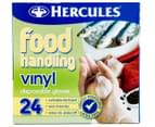 3 x Hercules Food Handling Vinyl Disposable Gloves 24pk 2