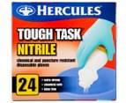 3 x Hercules Tough Task Nitrile Disposable Gloves 24pk 2