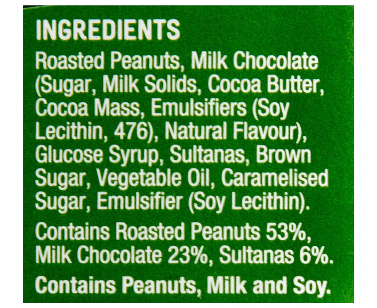 3 X Nice & Natural Roasted Nut Chocolate Peanut Bar 180g
