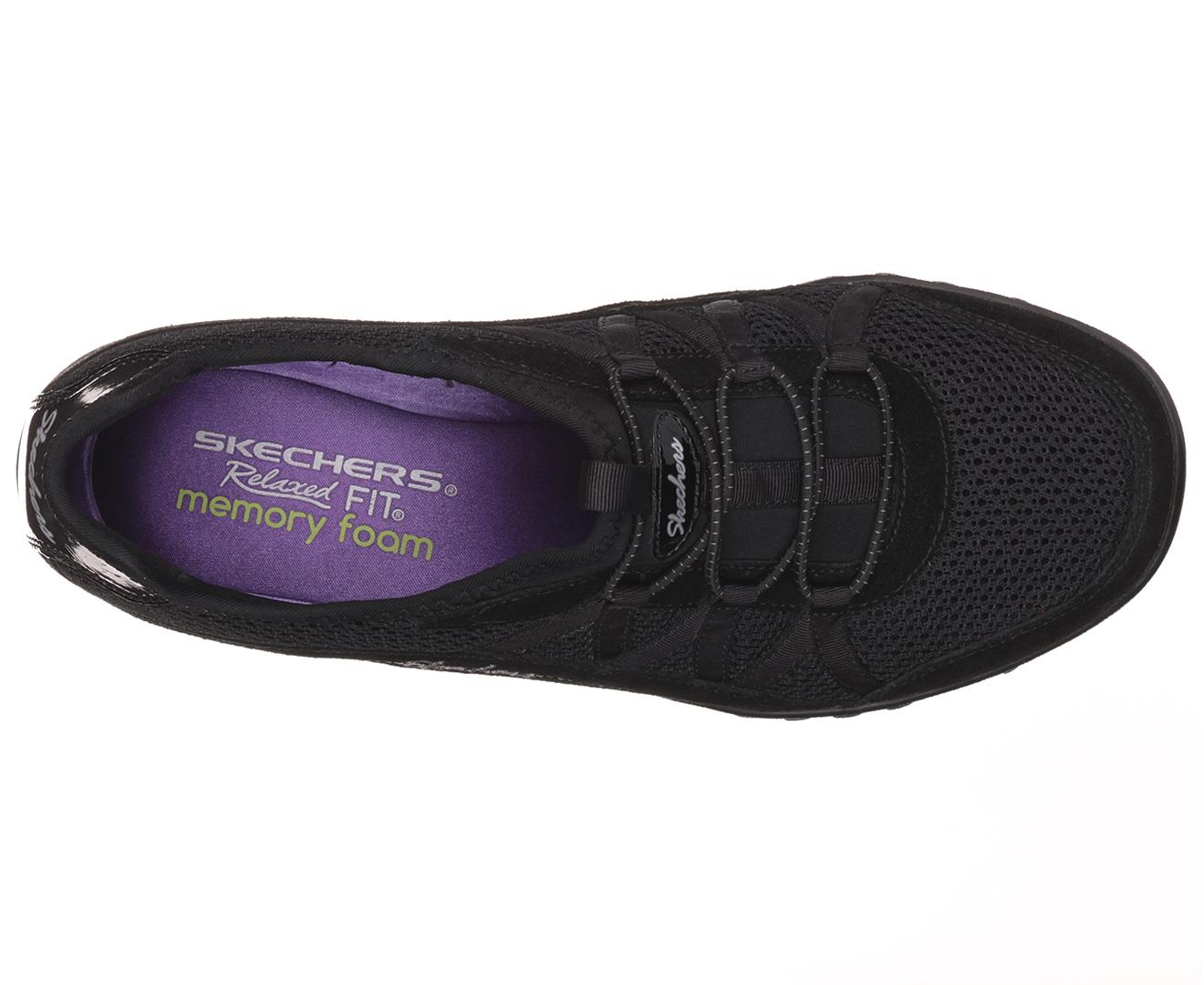 b15d793c0bb6 Skechers Women s Breathe Easy Relaxation Relaxed Fit Shoe - Black ...