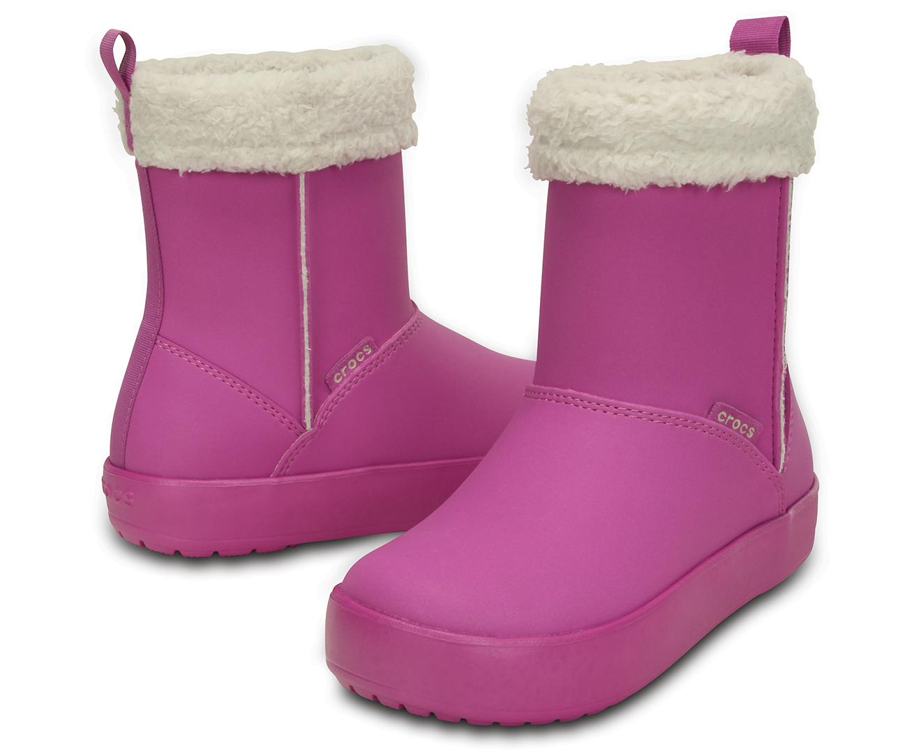 fc3a39c73c5130 Crocs Girls  Junior ColorLite Boot - Wild Orchid Oatmeal