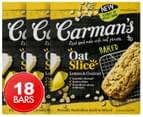 3 x Carman's Oat Slice Lemon & Coconut 210g 6pk 1