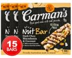 3 x Carman's Dark Choc, Macadamia & Coconut Bars 160g 5pk 1