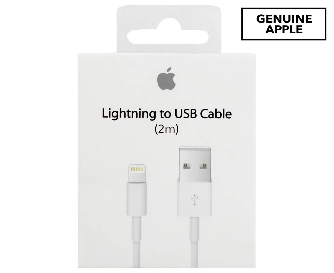 4ad24b0e902 Apple Genuine 2m Lightning to Usb Cable - White | Catch.com.au