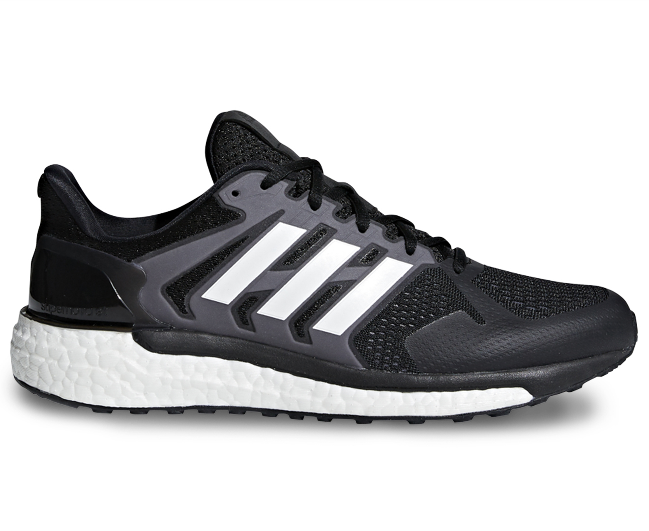 51072b66bc6bb Adidas Men s Supernova ST Shoe - Core Black FTWR White Grey Three