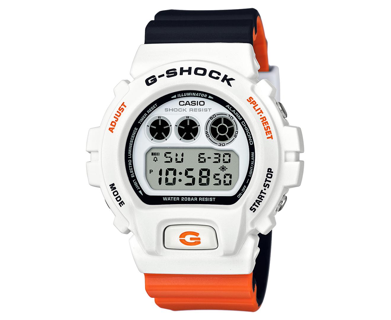 eff384906a4a Casio G-Shock x Marok Men s 51mm DW6900NC-7D Digital Watch - White Black  Orange