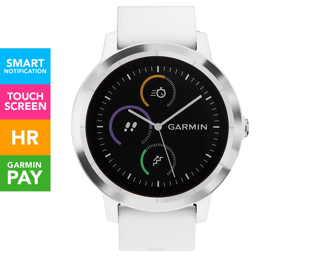 Garmin Vivoactive 3 Smartwatch - White/Stainless Steel