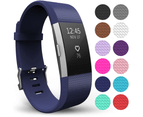 Yousave Fitbit Charge 2 Strap Single (Small) - Dark Blue 1