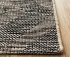 Rug Culture 400x300cm Terrace Geometric Diamond Rug - Black 3