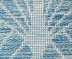 Rug Culture 230x160cm Terrace Art Deco Indoor/Outdoor Rug - Blue/Natural 5