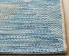 Rug Culture 290x200cm Terrace Triangles Indoor/Outdoor Rug - Blue/Natural 3