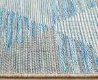 Rug Culture 290x200cm Terrace Triangles Indoor/Outdoor Rug - Blue/Natural 4
