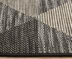 Rug Culture 400x300cm Terrace Triangles Indoor/Outdoor Rug - Black/Natural 4
