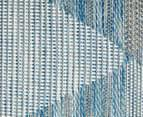 Rug Culture 290x200cm Terrace Triangles Indoor/Outdoor Rug - Blue/Natural 5