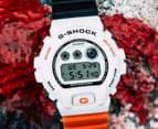 Casio G-Shock x Marok Men's 51mm DW6900NC-7D Digital Watch - White/Black/Orange 2