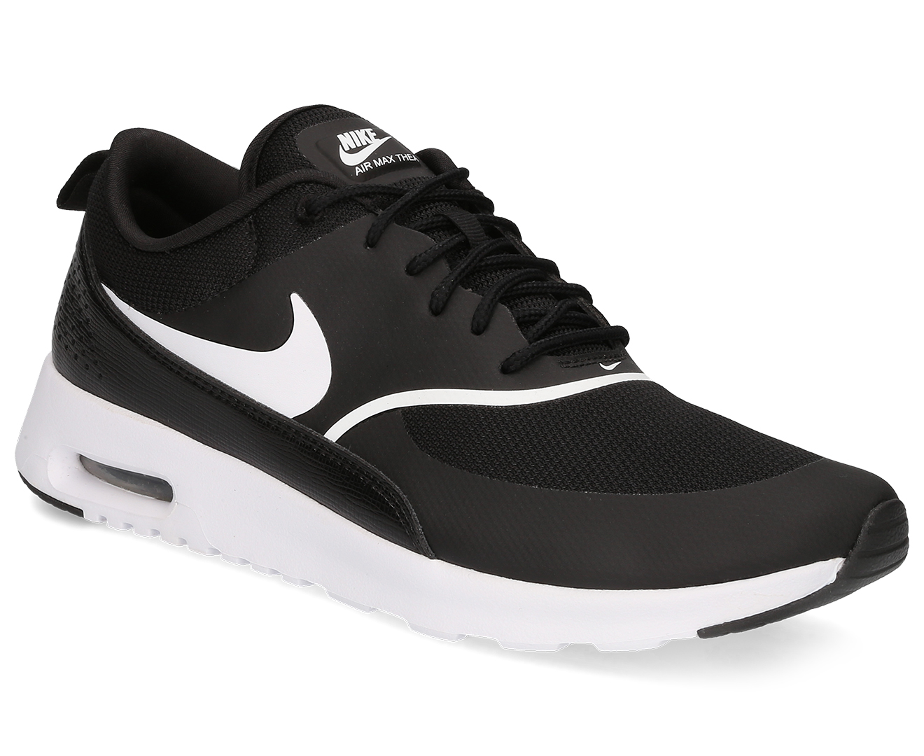 Details about 599409 028 Nike Air Max Thea Women's Casual Shoes BlackWhite