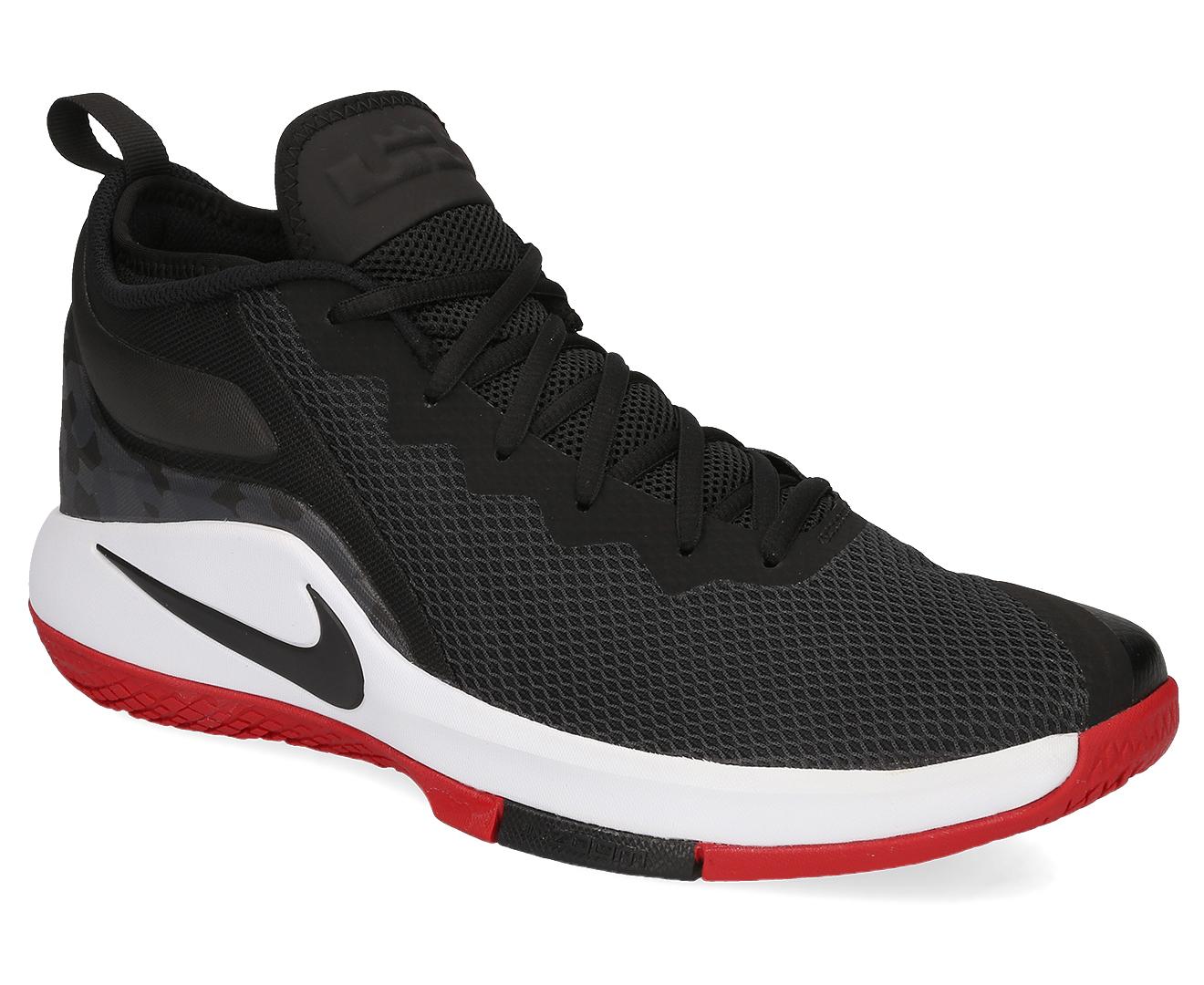 adbca8d114db Nike Men s Lebron Witness II Shoe - Black White Gym Red