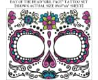 Day of the Dead Female Face Tattoo Makeup Accessory 1