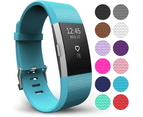 Yousave Fitbit Charge 2 Strap Single (Small) - Cyan 1