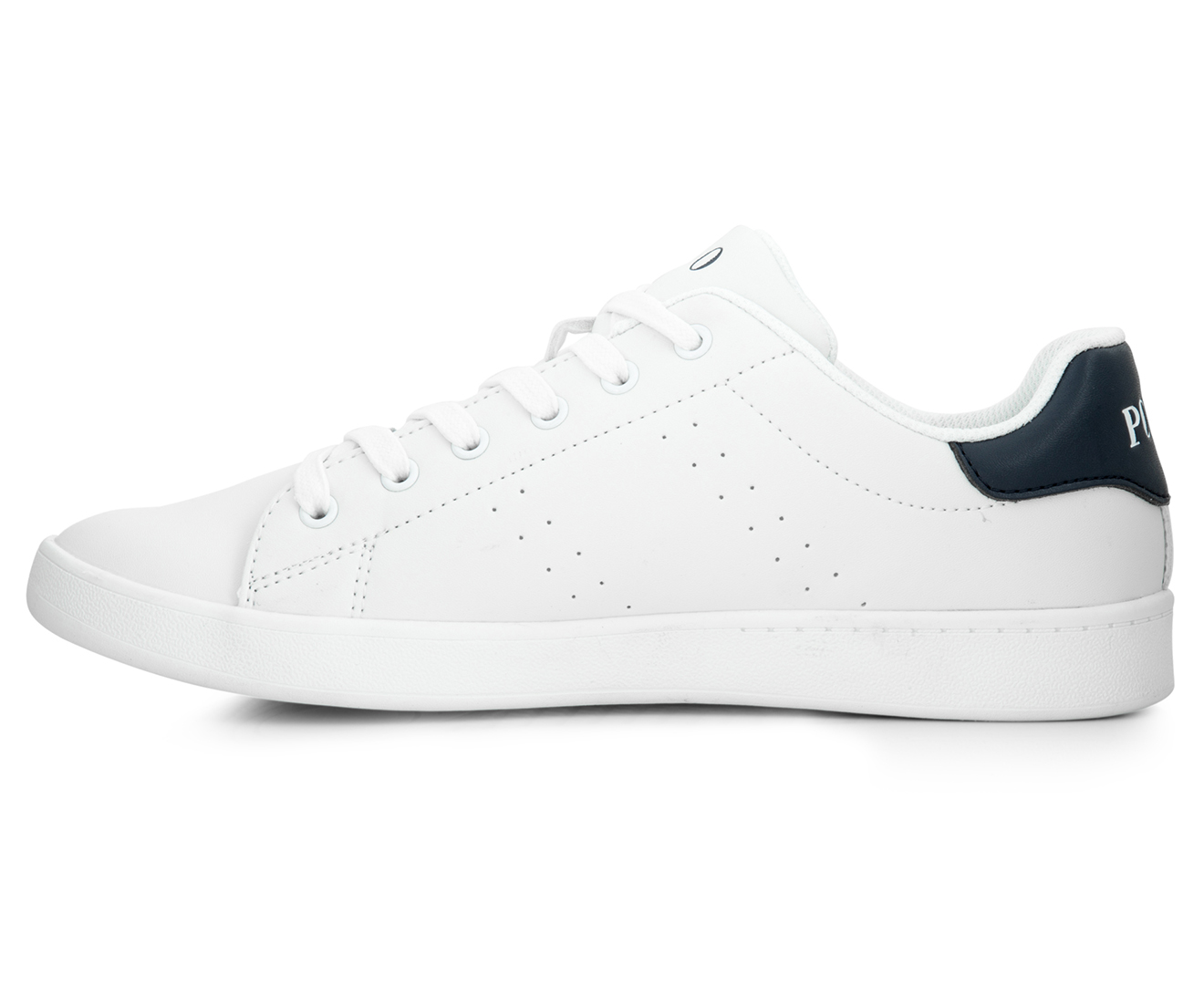 dade458a Polo Ralph Lauren Kids' Quincey Court Shoe - White/Navy | Catch.com.au