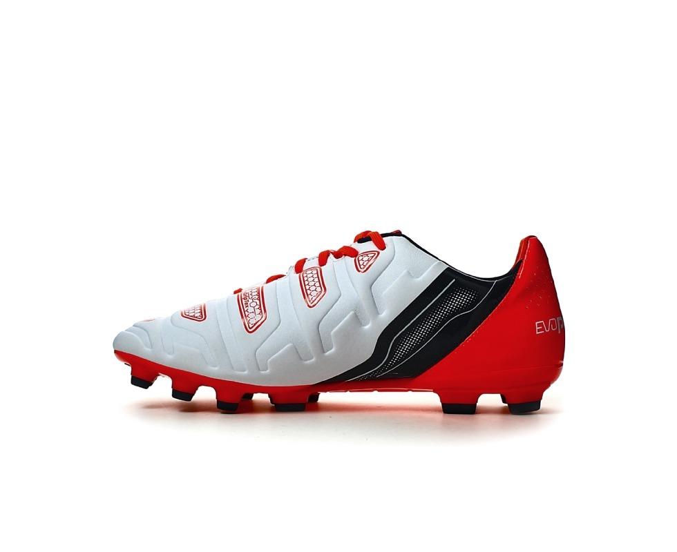 Puma Evopower 2.2 AG Football Boots (White-Orange)  11b371320
