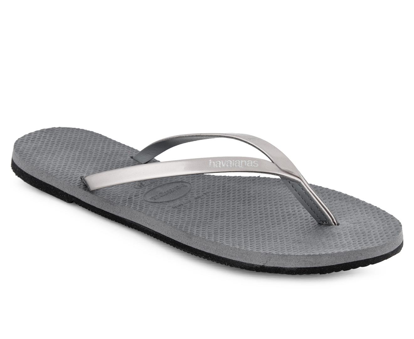 a0aa04f7d Havaianas You Metallic CF Thongs - Steel Grey