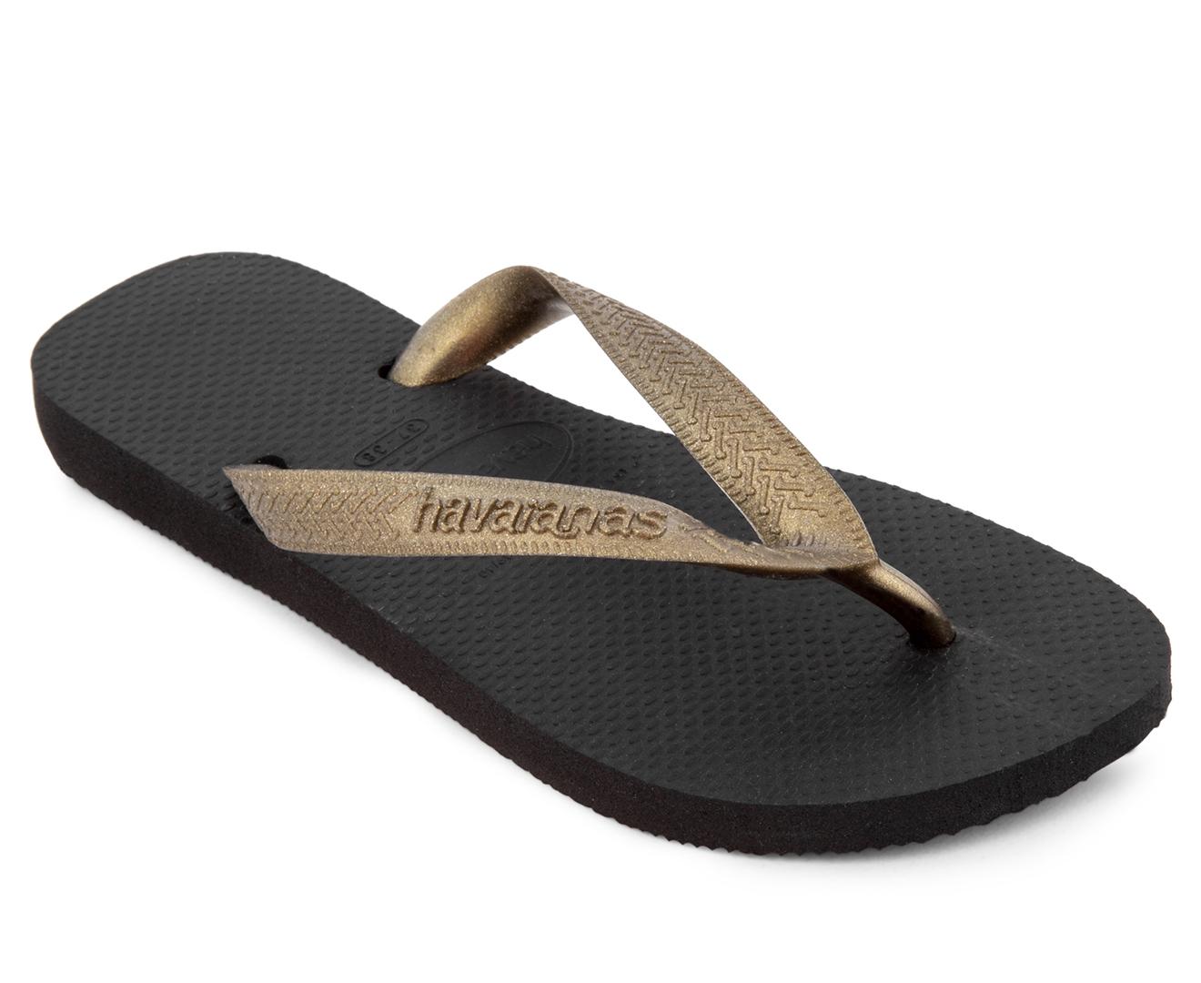 303dd950141eb Havaianas Top Tiras CF Thongs - Black Golden