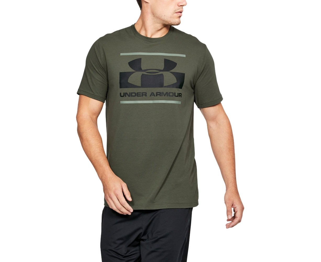 a64dd957 Under Armour Mens Blocked Sportstyle Logo Graphic Short Sleeve T Shirt -  DOWNTOWN GREEN / Moss Green | Catch.com.au