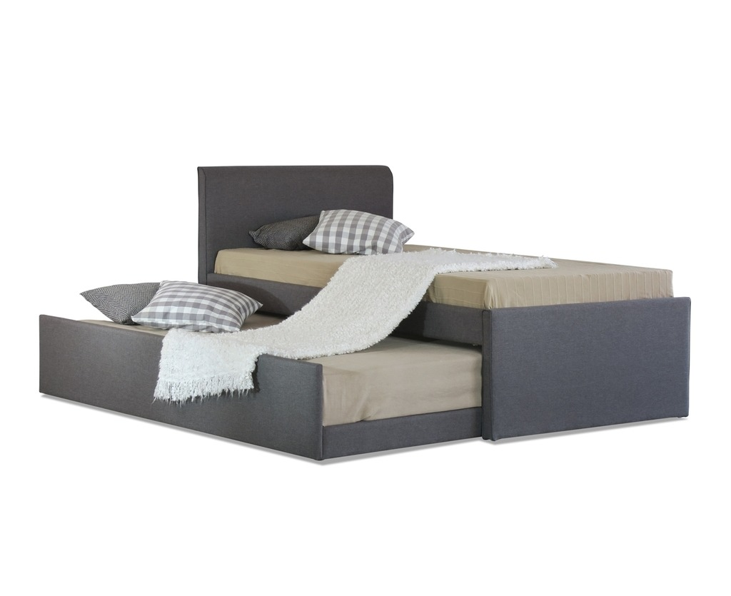 Picture of: Istyle Selina King Single Trundle Storage Bed Frame Fabric Grey Catch Com Au