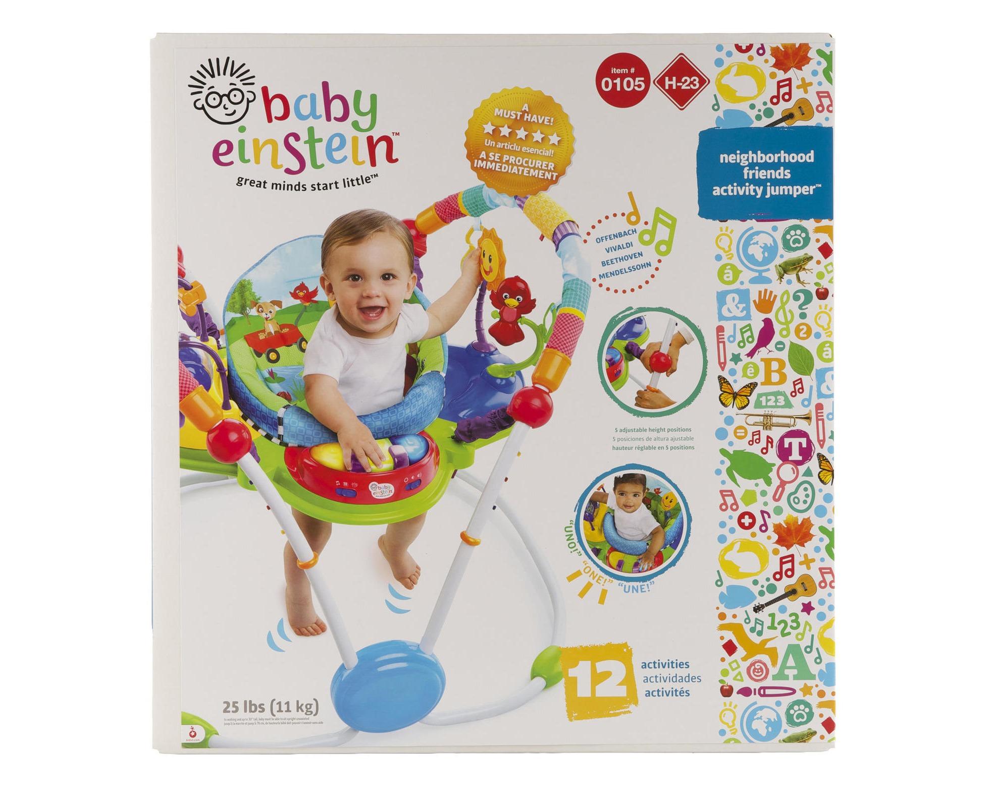 c7fca6810324 Baby Einstein Neighborhood Friends Activity Jumper Bouncer Cradling ...