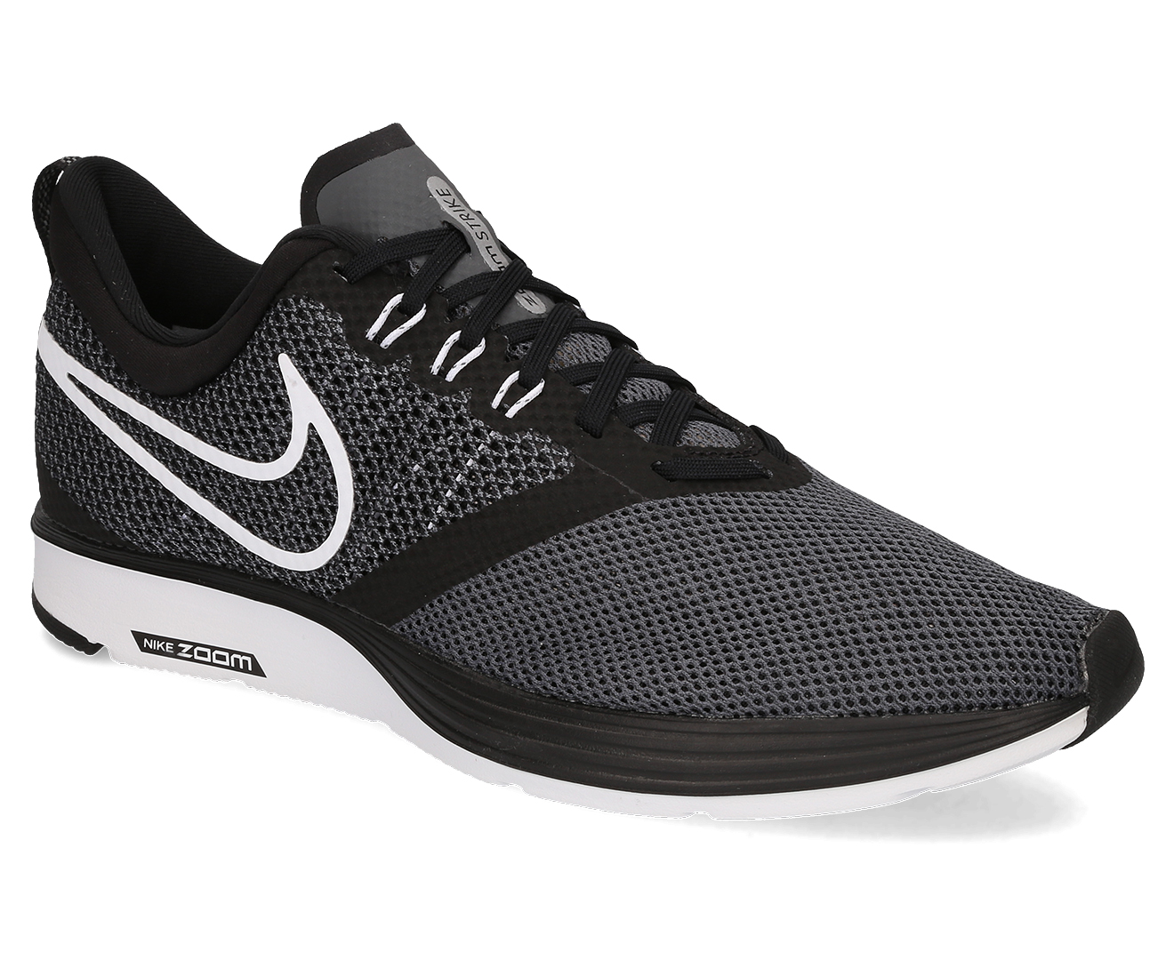 Nike Men's Zoom Strike Shoe BlackWhiteDark Grey