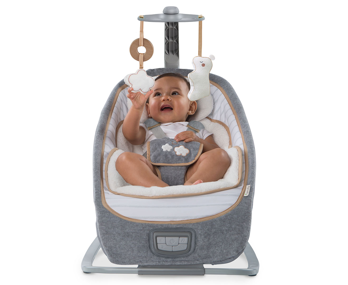 0c2b1eff69b Ingenuity Boutique Collection Bouncer Cradling Seat Baby Infant Rocking  Chair Music Toy - Bella Teddy