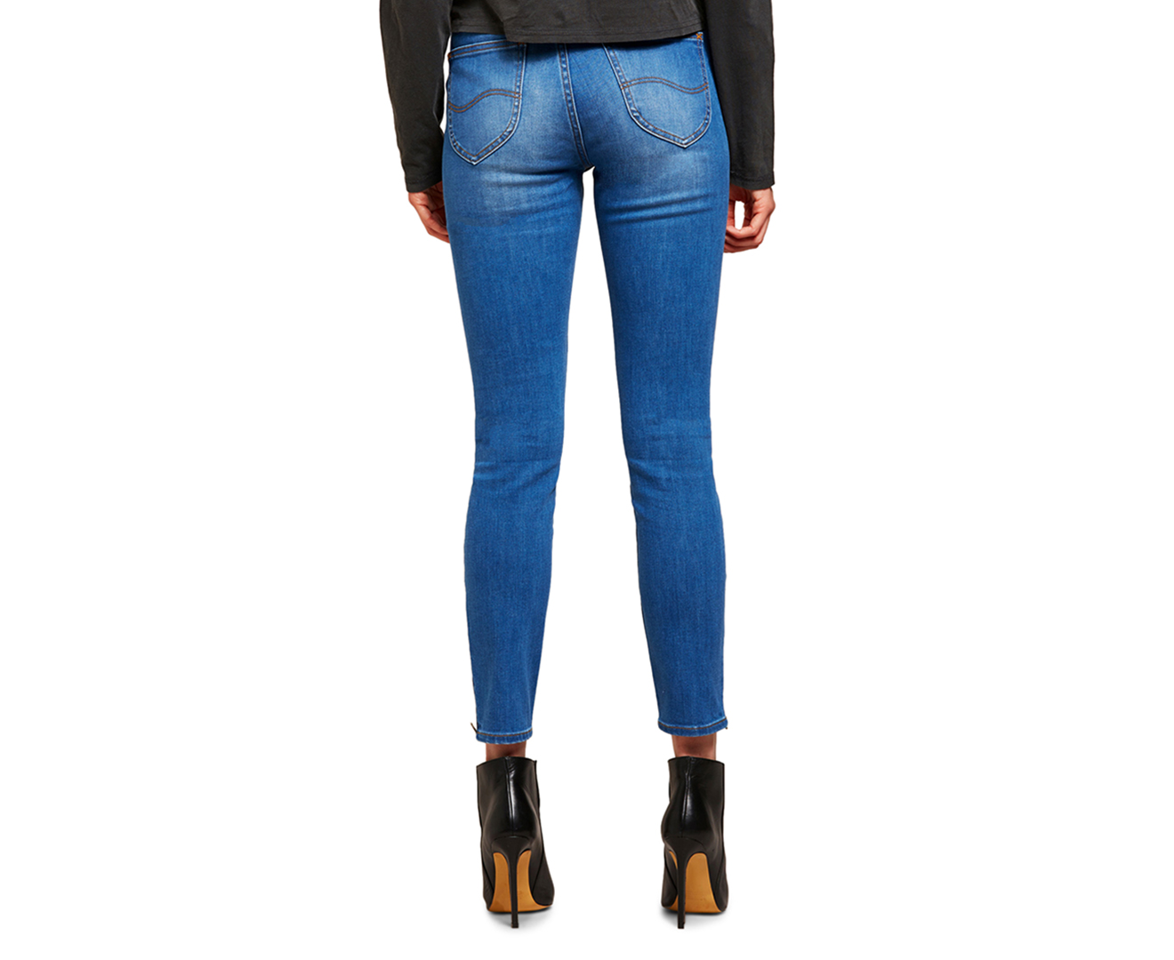 free shipping 06683 01fa5 Lee Women s High Licks Crop Jeans - Orion Blue   Catch.com.au