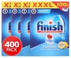 4 x 100pk Finish Powerball Classic Dishwashing Tabs Lemon Sparkle 1
