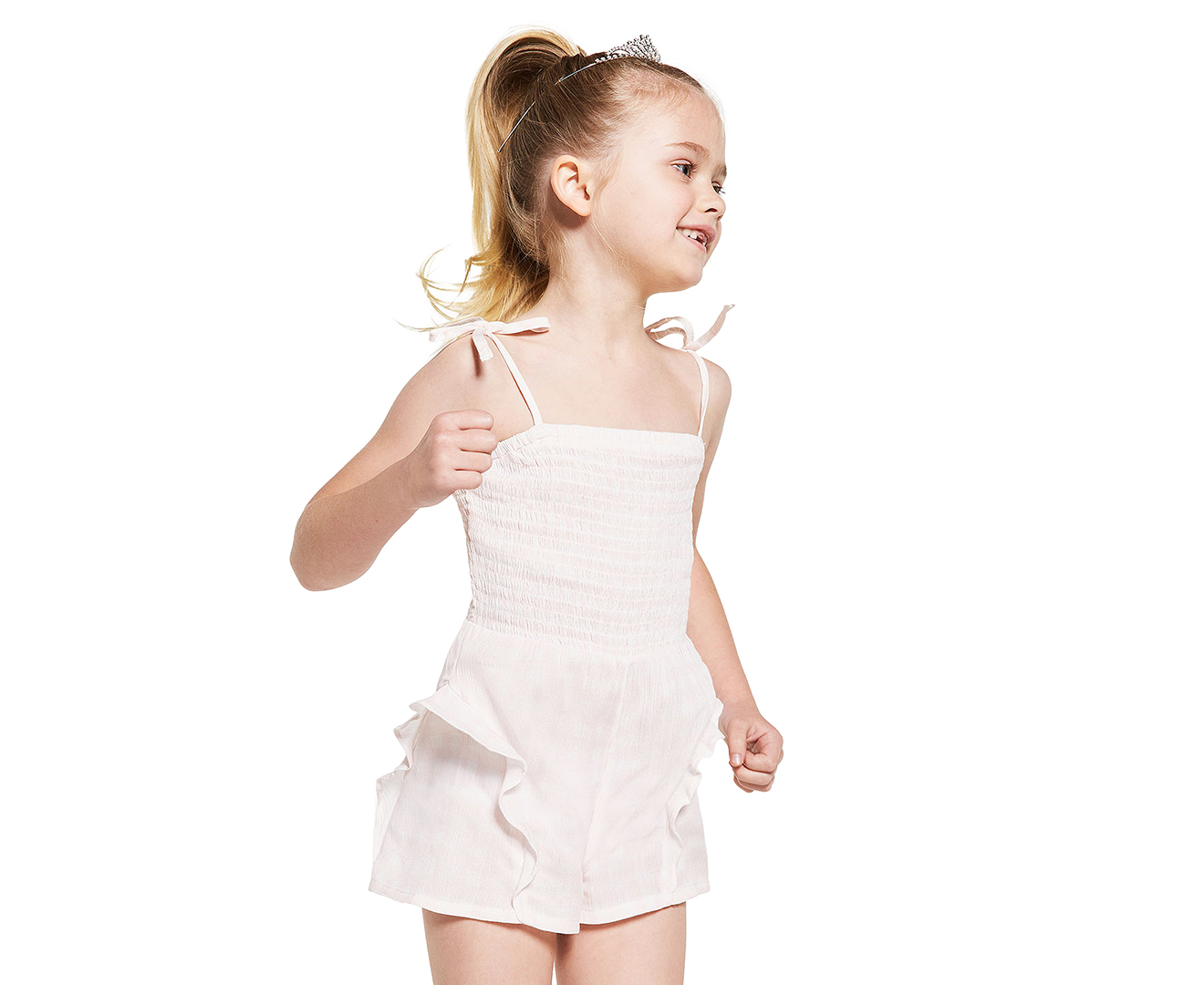 aff0e71b732 Bardot Junior Girls  Logan Playsuit - Pink Gingham