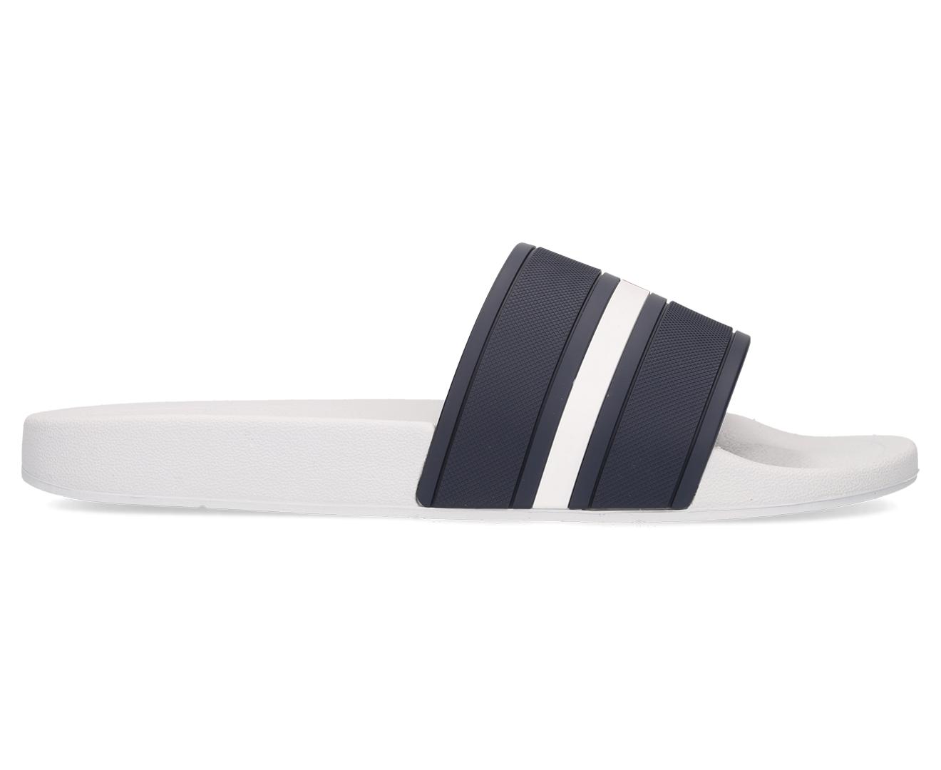 766cb8aa4756 Tommy Hilfiger Unisex Ennis Slide Sandal - White Multi