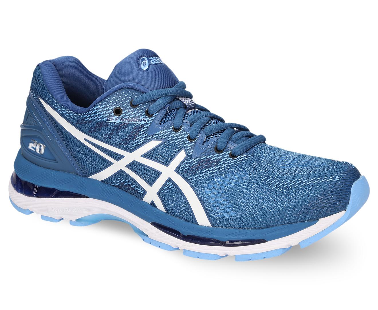 ca5944588fc3 ASICS Women s GEL-Nimbus 20 Shoe - Azure White
