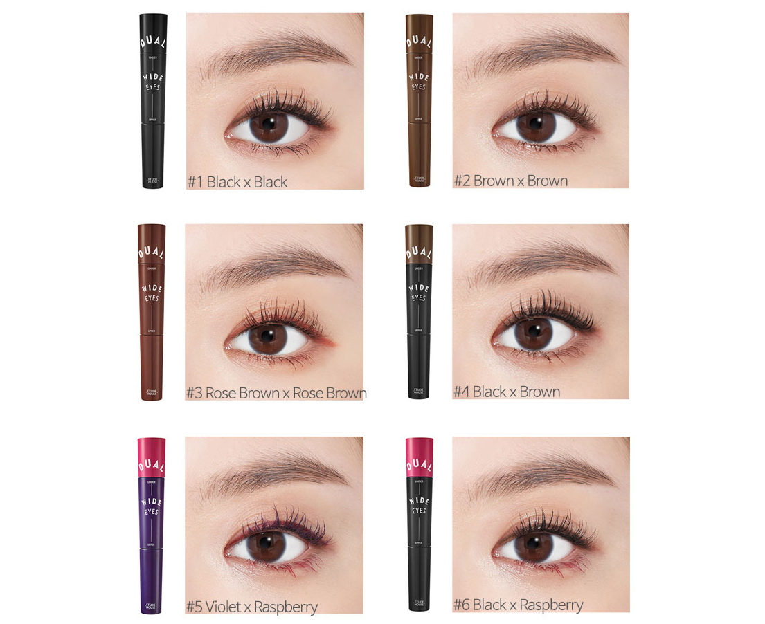 f45d9287263 Etude House Dual Wide Eyes Mascara (#6 Black x Rasberry) 5g / 3.5g  Waterproof Smudge Proof | Catch.com.au